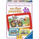 Graafmachine Tractor Kiepauto ''My First Puzzels''