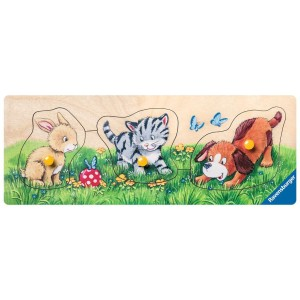 Schattige Babydieren ''My First Wooden Puzzel''