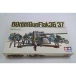 German 88mm Gunflak 36/37 + 9 Figuren + Zündapp KS750